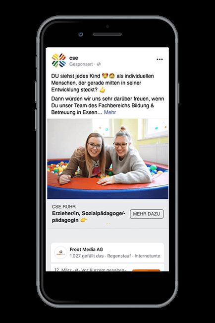 Froot Media AG - Social Recruiting - CSE - Facebook