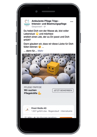 Froot Media AG - Social Recruiting - Ambulante Pflege Tripp - Facebook