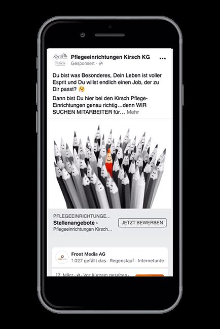 Froot Media AG - Social Recruiting - Pflegeeinrichtung-Kirsch - Facebook