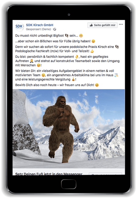 Froot Media AG - Social Recruiting - SDK Kirsch - Facebook