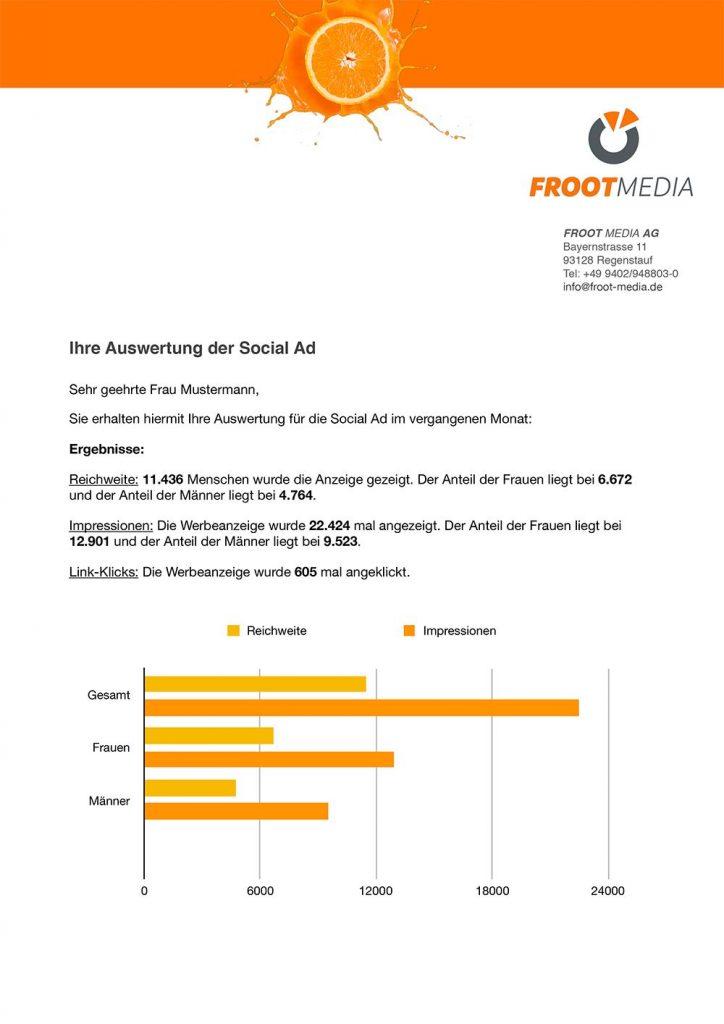 Froot Media AG - Social Recruiting - Auswertung - Regenstauf